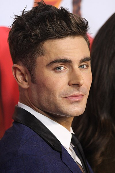 Zac Efron, an incredibly attractive male endomorph celebrity.