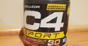 C4 Sport Pre Workout Review Picture of Front