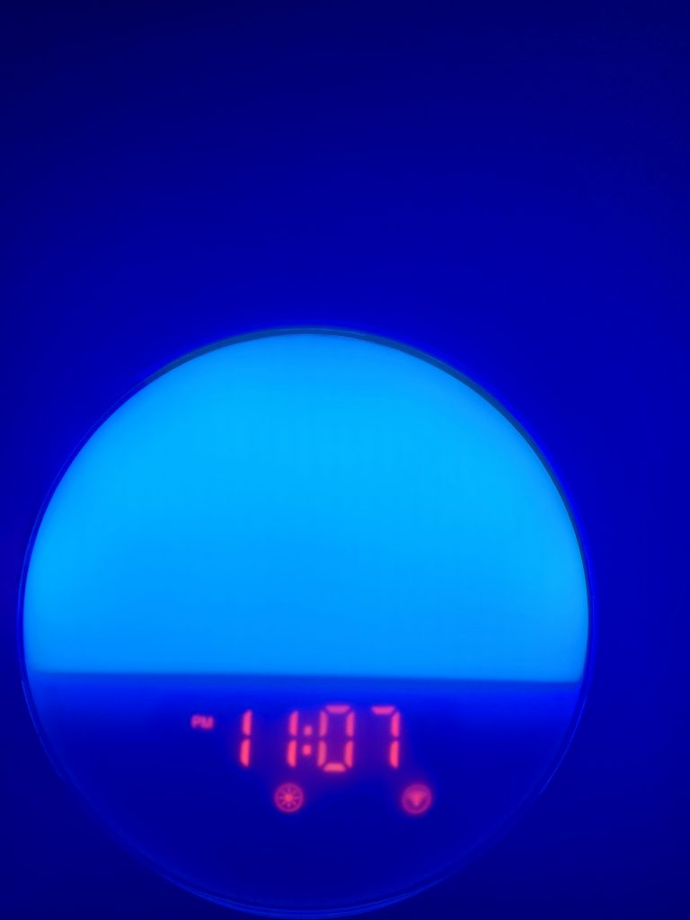 Heimvision Sunrise Alarm Clock in blue