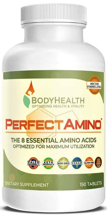 BodyHealth PerfectAmino Tablets, #9 on the natural bodybuilding supplements list.