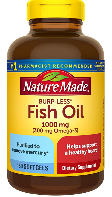 Nature Made Fish Oil, one of my favorite natural bodybuilding supplements