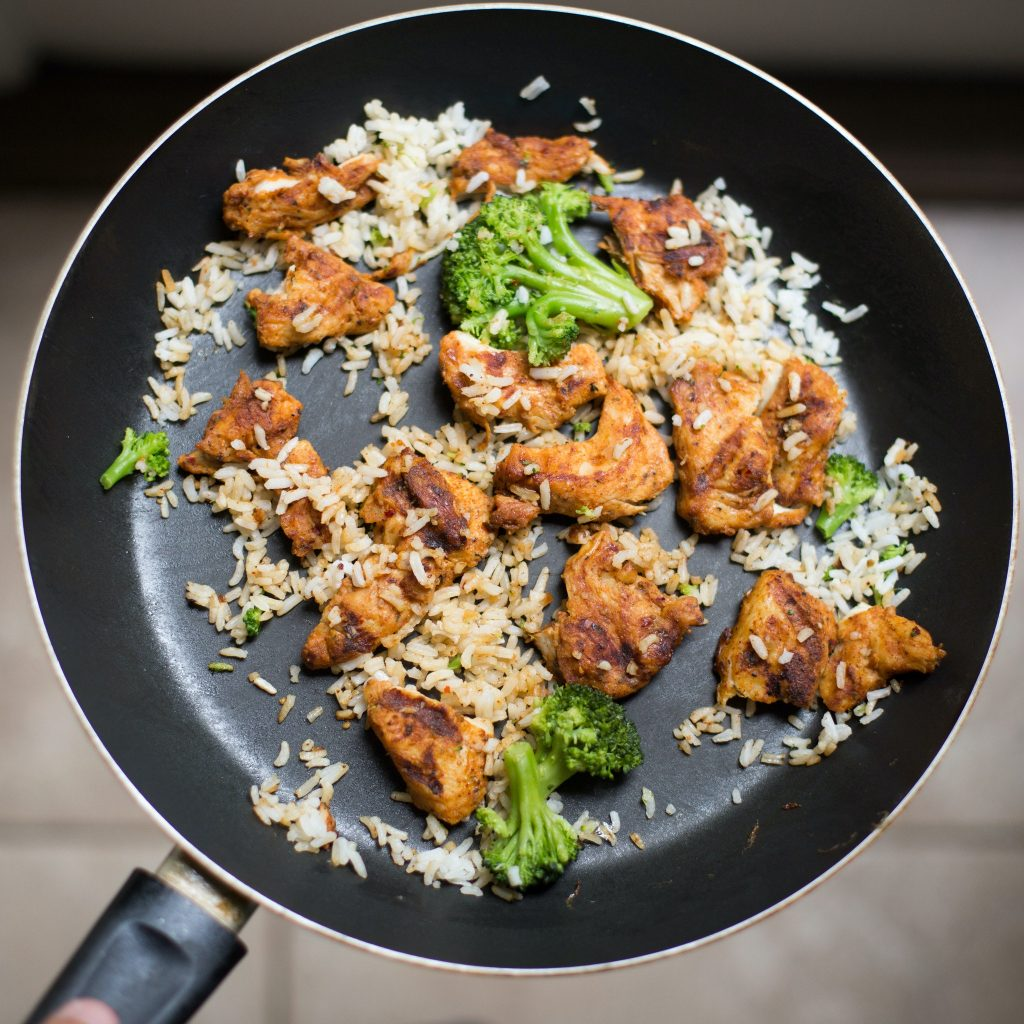 Why do bodybuilders eat rice and chicken? Well, from it's incredible macros to incredible taste, there's not much of a downside to eating it. Photo by Keegan Evans from Pexels