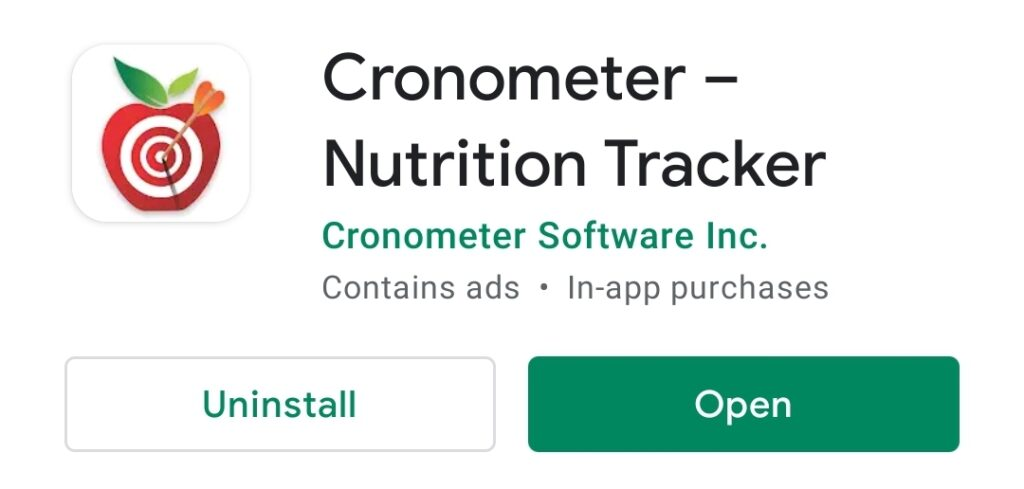 Cronometer review, app title.