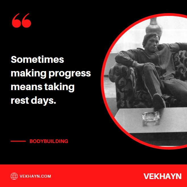 """One of my favorite rest day quotes, """"sometimes making progress means taking rest days"""""""