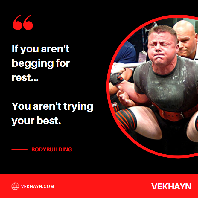 """One of many rest day quotes I live by, """"If you aren't begging for rest, you aren't trying your best""""."""