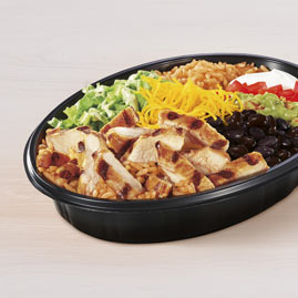 Taco Bell Power Menu Bowl, probably the best item healthwise and macrowise if you want to use taco bell for bodybuilding.
