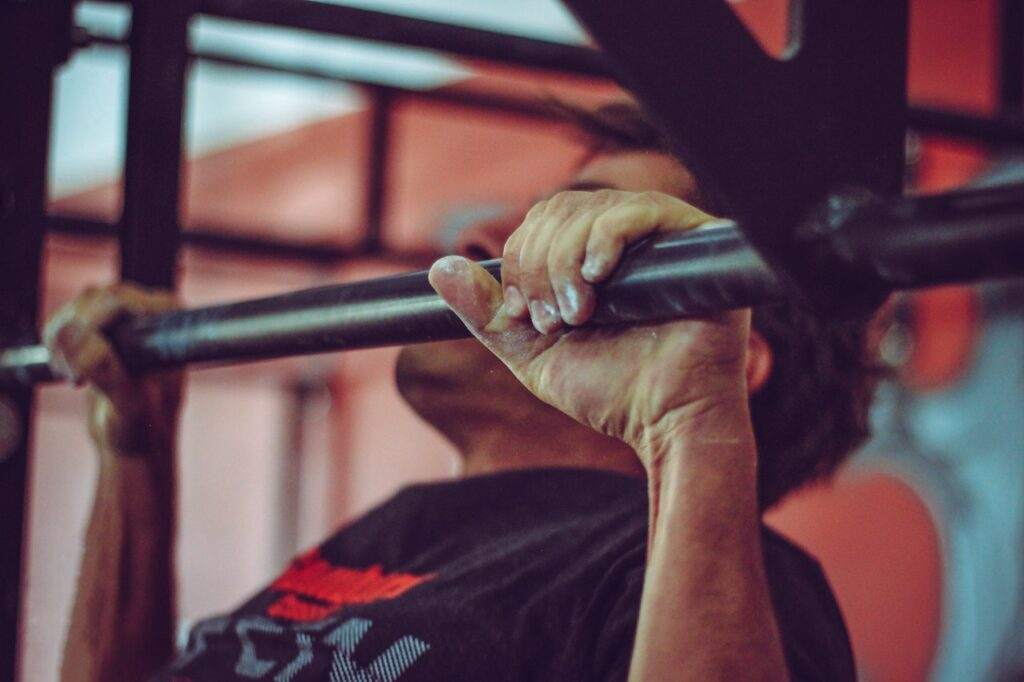 100 Pull Ups a Day keeps the muscle loss away. Photo by Victor Freitas from Pexels