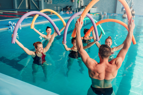 Best cardio exercises for bad knees include water aerobics.