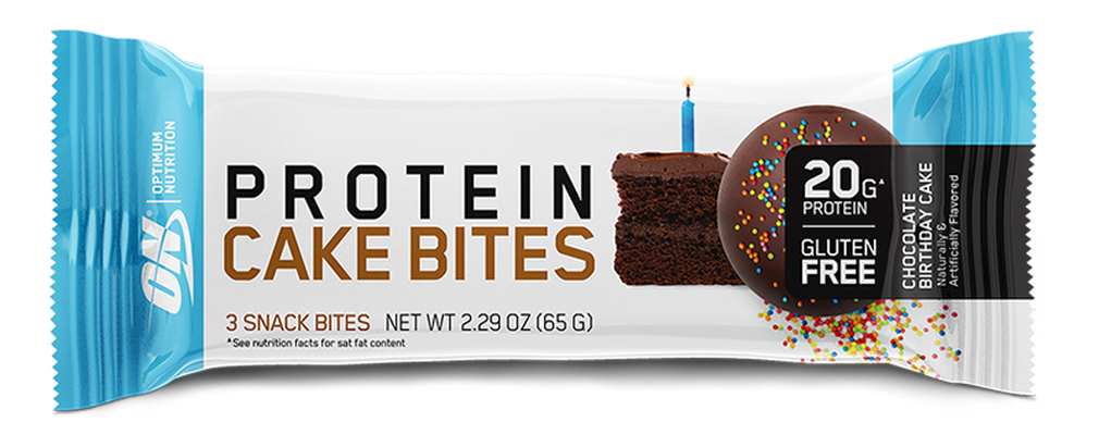 Optimum Nutrition Protein Cake Bites - One of the best high protein snacks for bodybuilding.