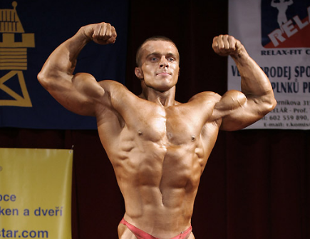 Front Double Biceps, one of the most important and common bodybuilding poses.